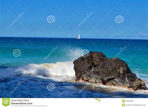 rock the boat ocean ocean scene 1 royalty free stock images image 34844809