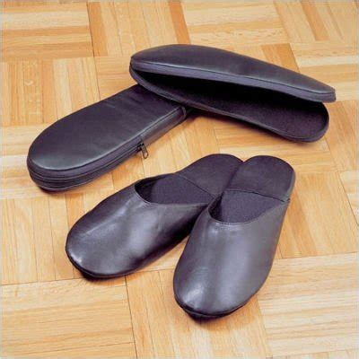 Travel Home Slippers leather travel slippers findgift