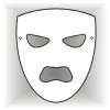 printable greek mask template plain face masks design your own mask templates