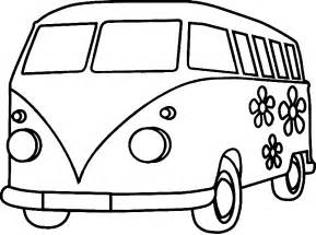 Vw Bus Colouring Pages Page 2 sketch template