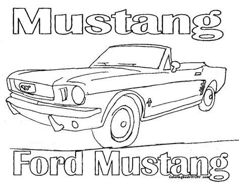 coloring page mustang car mustang car coloring pages free az coloring pages