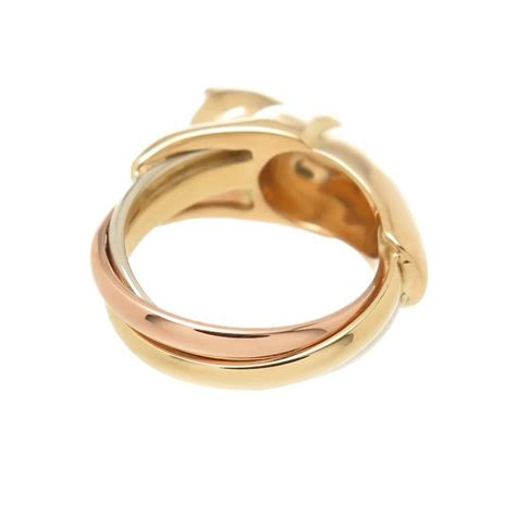 cartier tricolor gold panther ring at 1stdibs