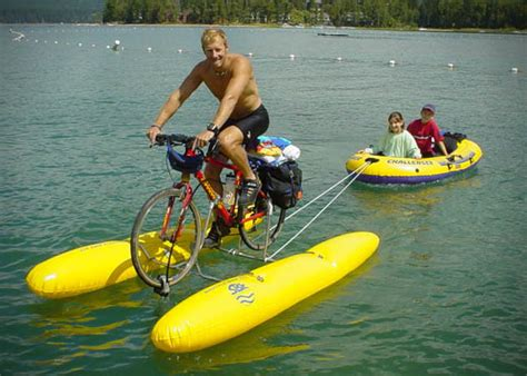 bicycle paddle boat shuttle bike hibious pedal power boat hiconsumption