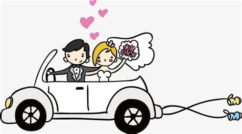 wedding car vector wedding car vector bridegroom png and vector