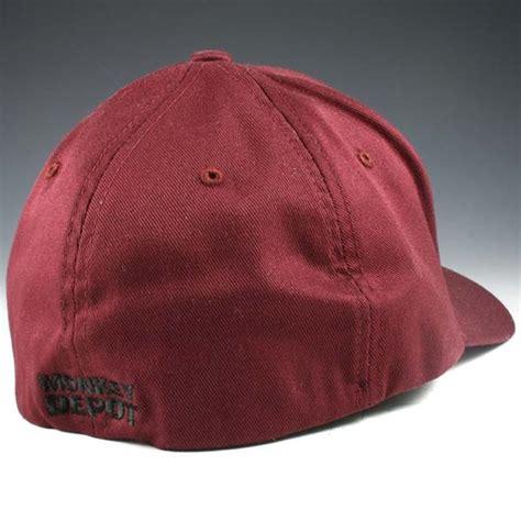 Baseball Cap Maroon monkey depot logo flexfit baseball cap maroon