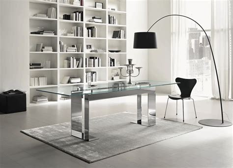 Glass Desk Modern Office Furniture Enchanting Contemporary Office Desk Glass For Modern Glass Desk With Drawers