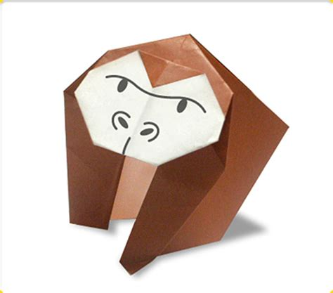 ごりら|どうぶつ・とりの折り紙