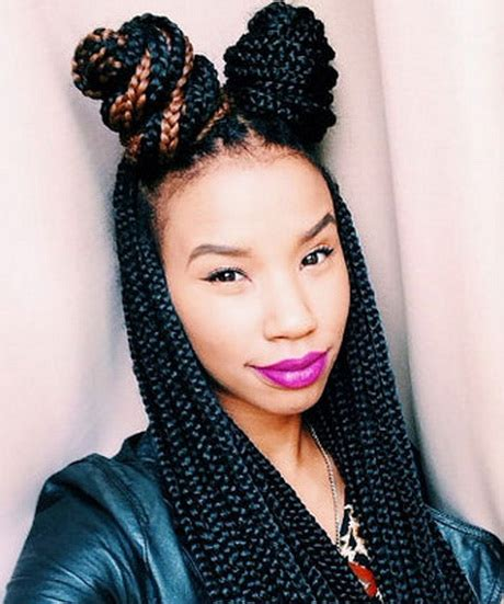 box braids two buns hairstyle pics 2016 braids hairstyles
