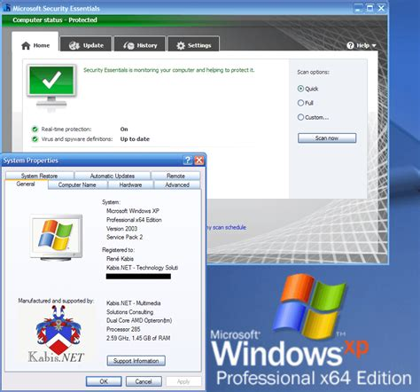 installing xp on windows server 2008 installing microsoft security essentials on xp 64 bit and