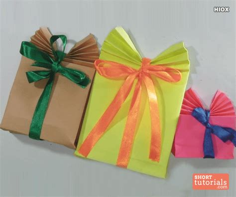 How To Make A Paper Present - paper gift bag