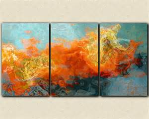 abstract art 40x78 oversized triptych gallery wrap giclee