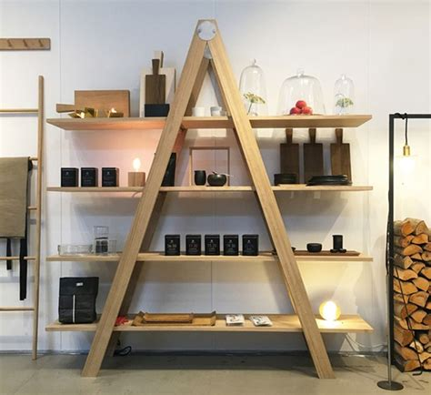 rustic ladder shelf by raumgestalt to showcase at maison