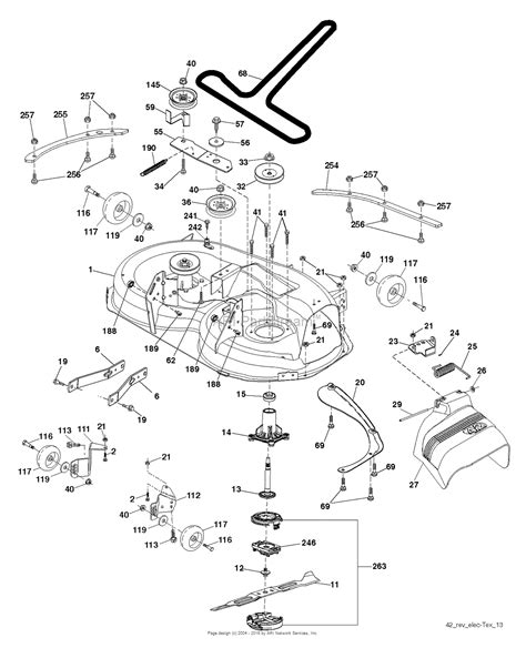 husqvarna lawn mower parts diagram husqvarna yt42cs 96043022200 2015 12 parts diagram for