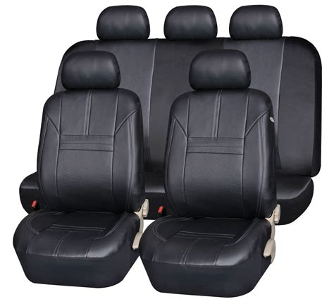 seat covers leather look set auto one
