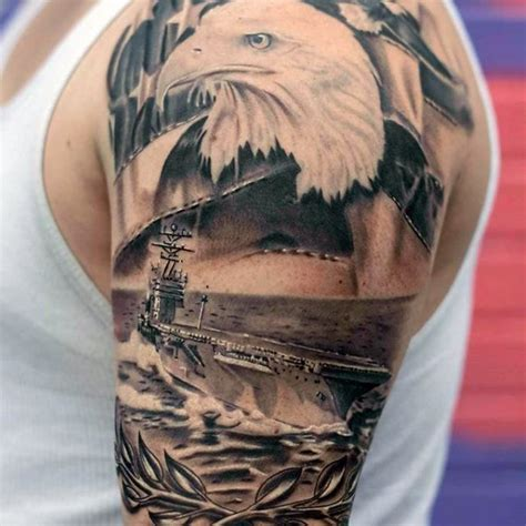 collection of 25 military eagle tattoo on leg