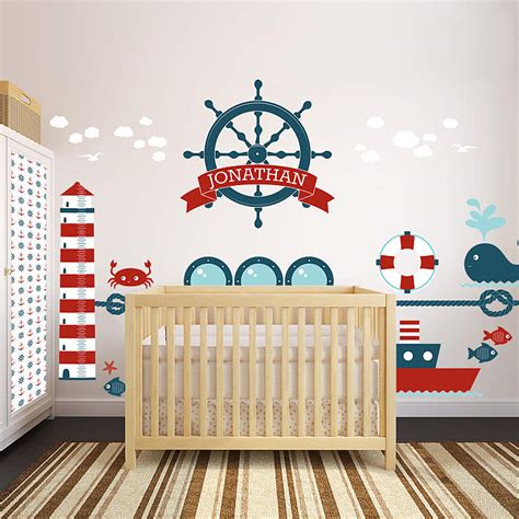 nautical wall decals for nursery nautical theme nursery bundle wall decal shop fathead