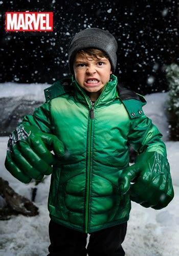 kids incredible hulk puffer superhero jacket