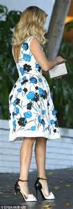 Wst 14394 Blue Flower Dress reese witherspoon wears floral dress for fashion event as