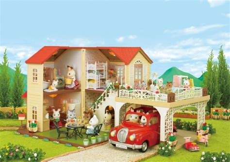 sylvanian haus new sylvanian families calico critters big house with car