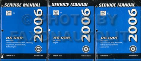 online car repair manuals free 2006 cadillac sts seat position control 2006 cadillac sts original repair shop manual 3 volume set