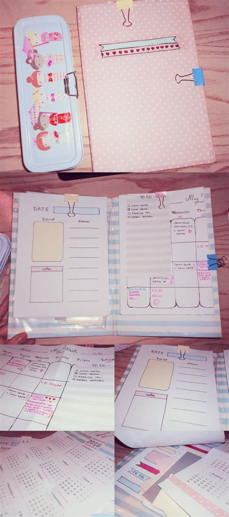 Handmade Planners - my handmade planner by ninelyn on deviantart
