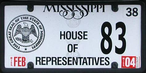 mississippi house of representatives brett s license plates mississippi non passenger plates