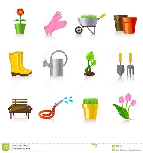 Garden Icon by Gardening Icons Stock Photo Image 12801530