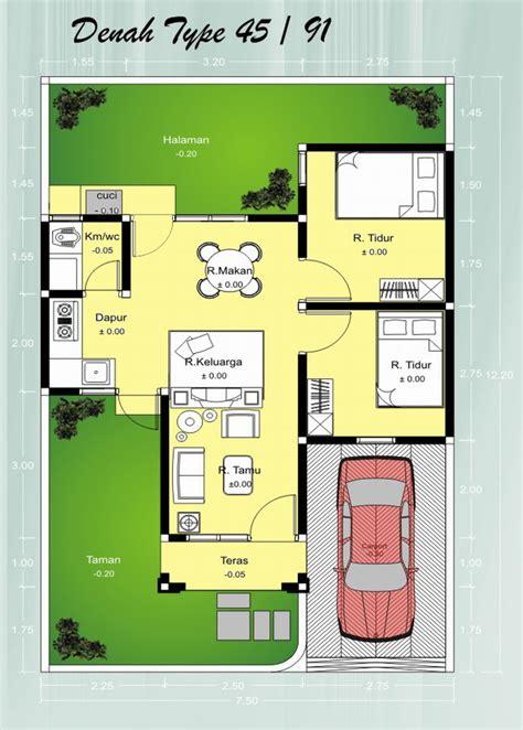 layout rumah minimalis type 45 denah rumah minimalis type 45 1 lantai rumah dan desain