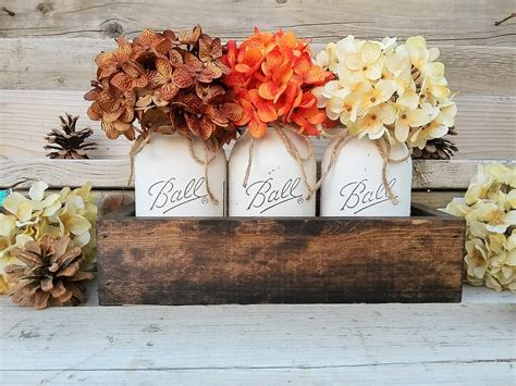 fall table decorations with jars fall table centerpiecefall decorseasonalthanksgiving table