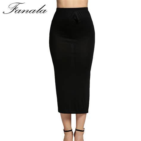 maxi skirt high waist pencil skirt black gary