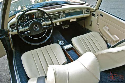 Mercedes 280sl Interior by 1971 Mercedes 280sl 2 Owners Rust Free Ac 91k