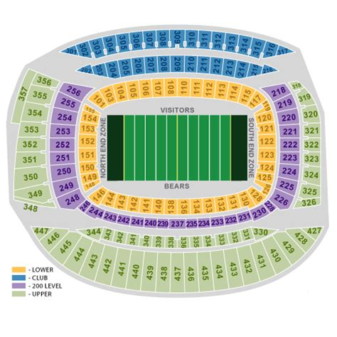 chicago bears stadium seating capacity chicago bears ticket and seating information