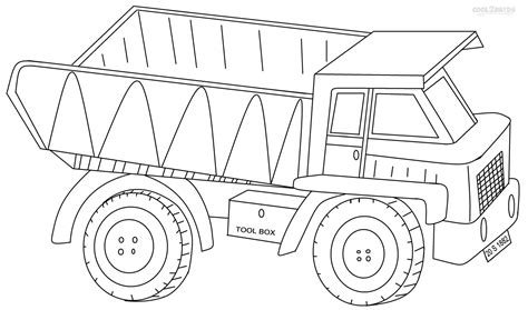 Dump Truck Coloring Pages sketch template