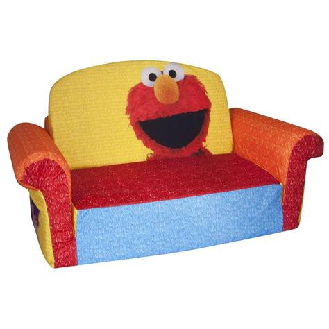 childrens 2 in 1 flip open sofa spin master marshmallow furniture flip open sofa elmo