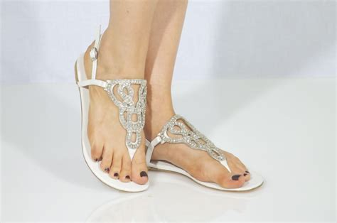 Wedding Sandals by White Sandals White Bridal Sandals