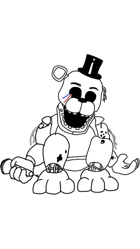 Fnaf 2 Coloring Pages by Fnaf Coloring Pages Golden Freddy Gallery Free