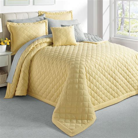 yellow matelasse coverlet yellow quilted bedspread y wall decal