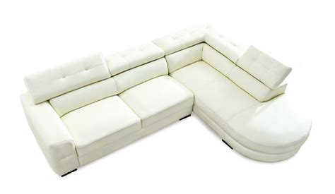 Carla Small Leather Corner Sofa With Adjustable Headrest Best Leather Corner Sofas