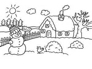 le bonhomme de neige du jardin coloriages d hiver
