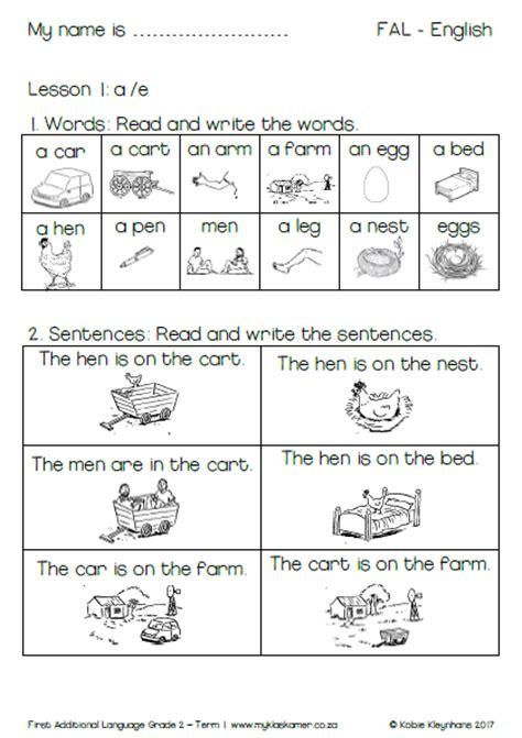 Printable Afrikaans Worksheets