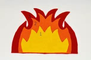 How To Make Flames Out Of Paper - paper flames template pictures to pin on pinsdaddy