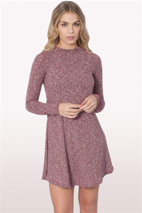 Dress Polos 2 wine ribbed polo neck skater dress dresses modamore