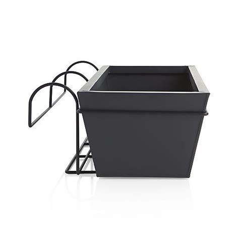 railing planters ikea 10 easy pieces black balcony box planters gardenista