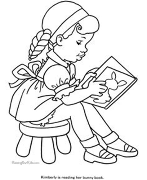 coloring page girl reading 1000 images about clipart girls on pinterest digi