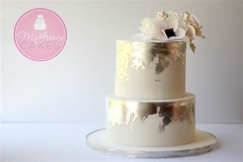 distressed gold wedding cakes and antiqued effects
