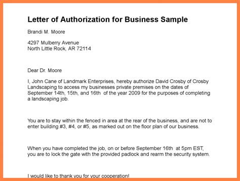 Authorization Letter Partnership Firm 9 Company Authorization Letter Sle Company Letterhead