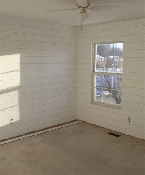 Shiplap Look Paneling How To Hang Shiplap Paneling Small Rooms Vaulted