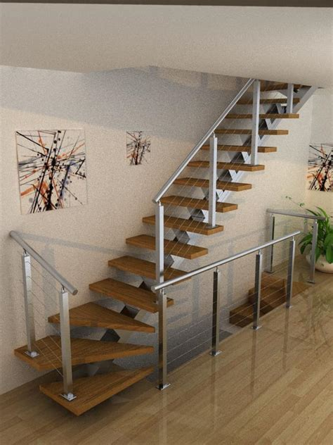 step inside this house simple design l shape stairs with safety structure for you