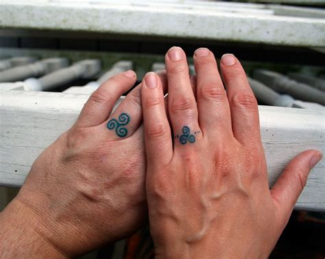 small ring tattoos 50 finger ideas and designs