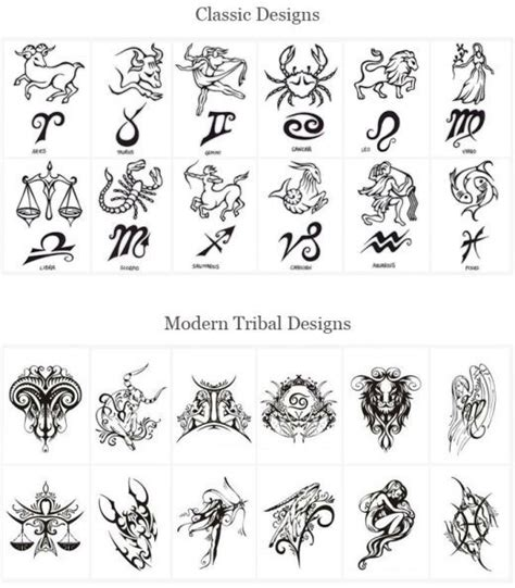 tribal star signs tattoos designs astrological tatoos astrology tattoos designs back